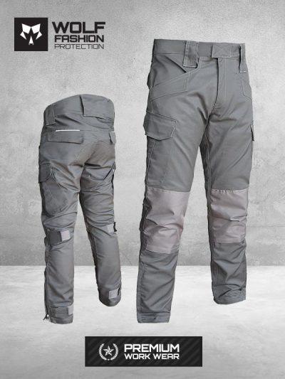Radne Pantalone Si-Wolf 1001 Tamno Sive boja