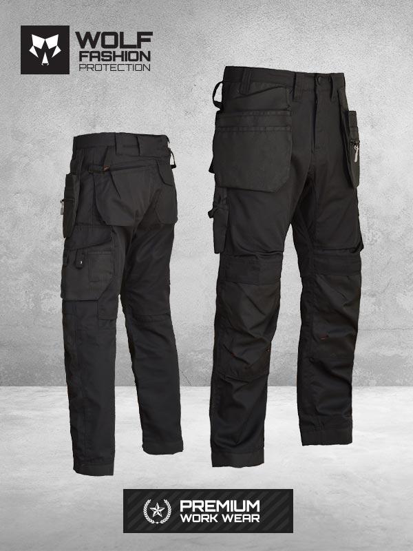 Radne Pantalone Si-Wolf 1007 crne boje