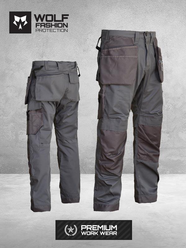 Radne Pantalone Si-Wolf 1007 Tamno siva boja