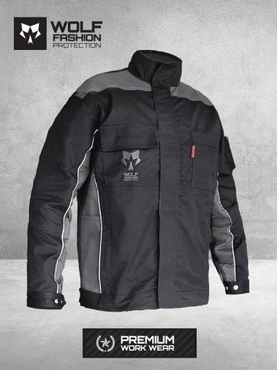 Radna Bluza Wolf SI-2002 crna-tamno siva boja