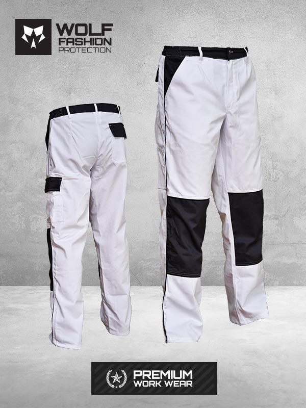 Radne Pantalone SI-Wolf 1006 Belo-Crna Kombinacija Komplet
