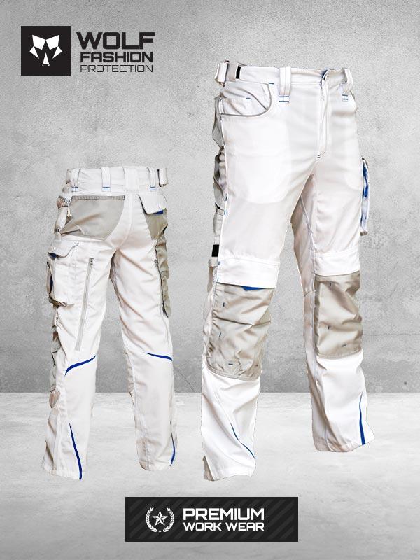 Radne Pantalone SI-Wolf 1003 Belo Crna Kombinacija Komplet