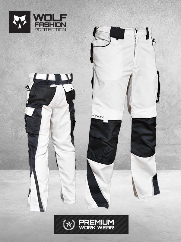 Radne Pantalone SI-Wolf 1004 Belo Crna Kombinacija Komplet