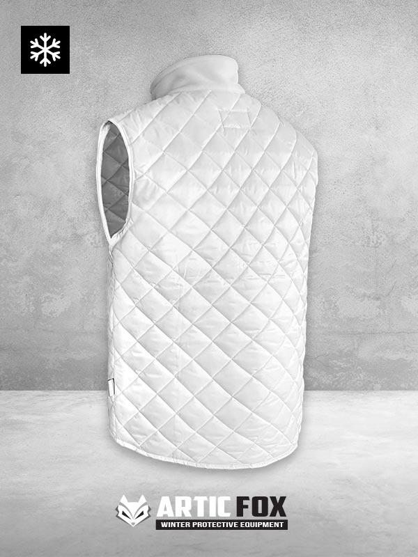zimski-prsluk-sa-kragnom--radna-odeca-zastita-od-hladnoce-od-0-do--5-bela-boja-pozadi