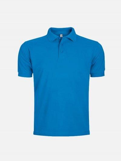 Pamučna polo majica tirkizno plava