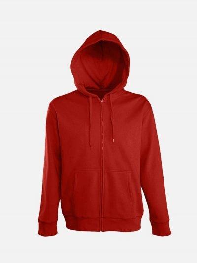 Dukserica sa kapuljačom crvena boja