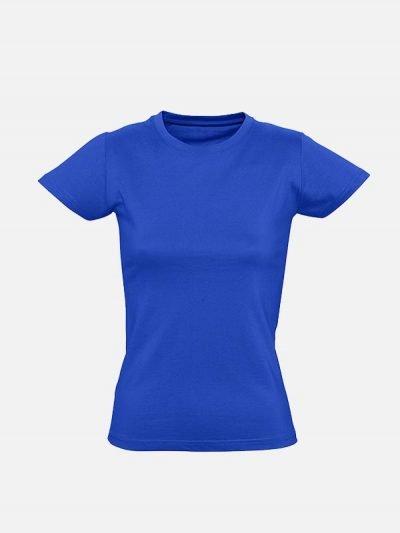 Premia royal plava ženska pamučna majica