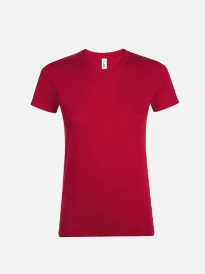 Ženska pamučna majica crvene boje