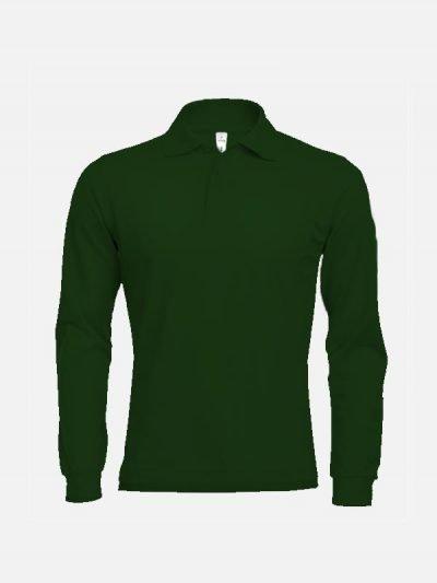 Polo majica dugih rukava zelene
