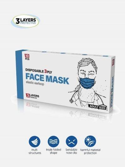 Jednokratne Maske pakovanje 10 kom