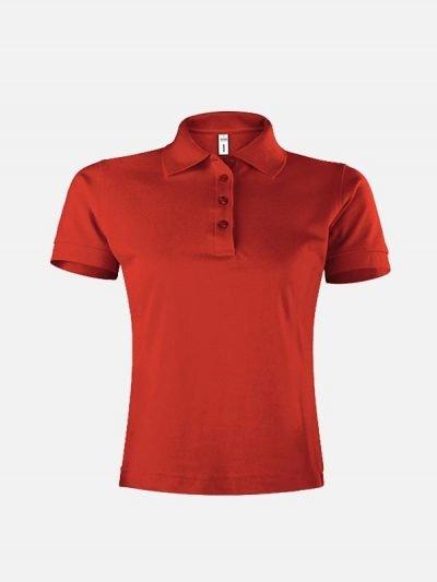 Ženska polo majica crvene boje