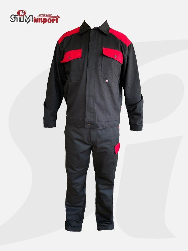 Radno odelo crno crveno